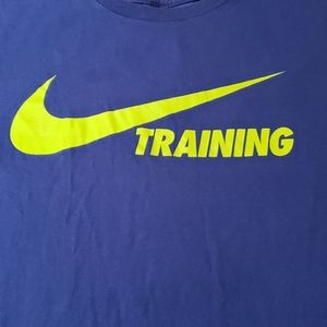 3/$20 Nike blue training shirt sz lg